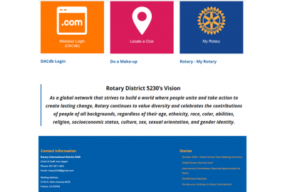 Rotary District 5230's Vision Statement